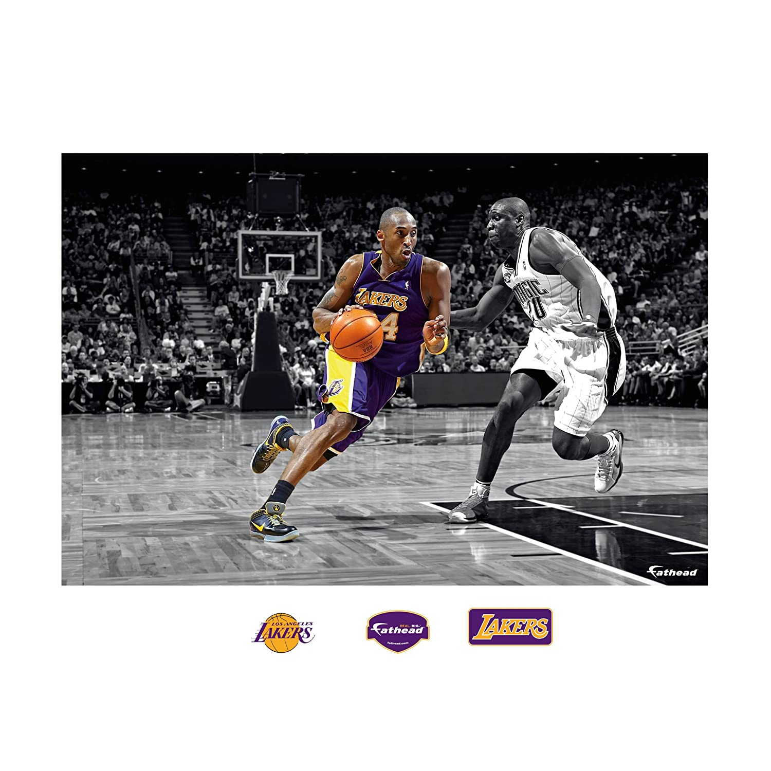 amazon com nba los angeles lakers kobe bryant mural wall graphic amazon com nba los angeles lakers kobe bryant mural wall graphic sports fan wall banners sports outdoors