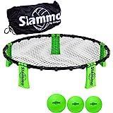 GoSports Slammo Juego (Incluye 3 Bolas, Funda de Transporte y Reglas) – Juego de Red para césped al Aire Libre, Playa y portó