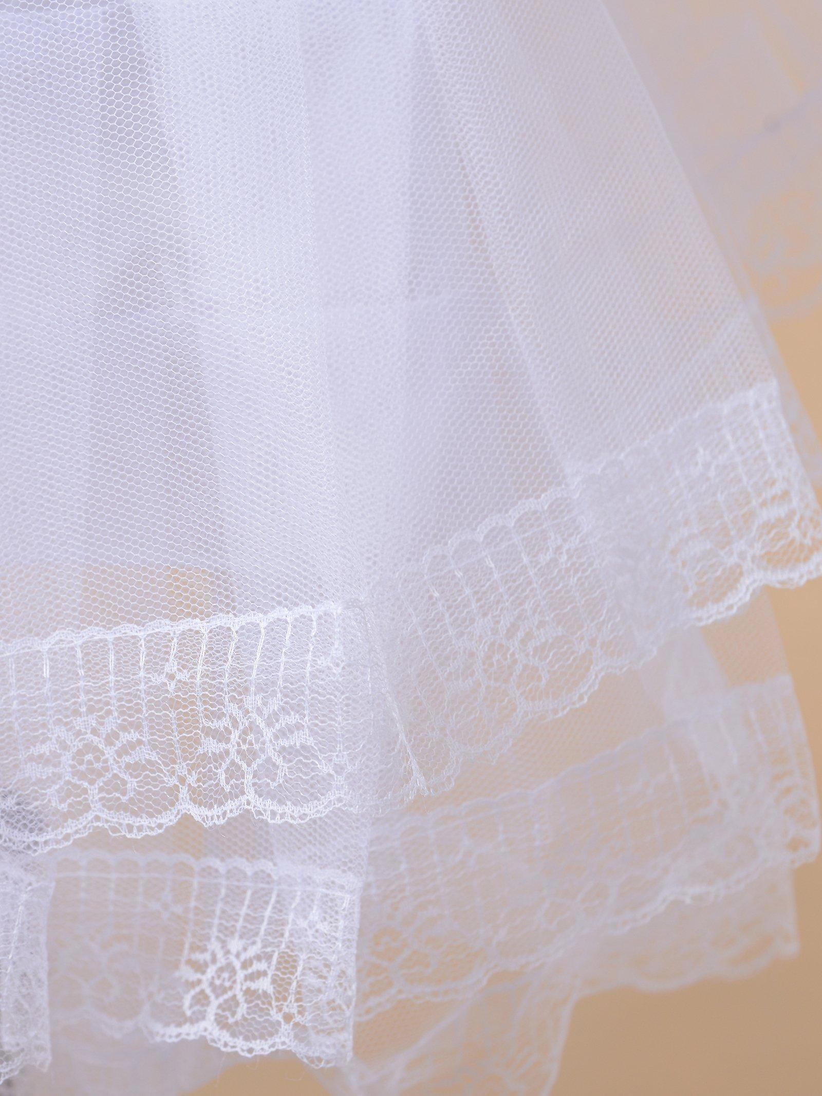 Remedios Kids Mini White Petticoat Flower Girl Wedding Underskirt Cocktail Dress Crinoline Slip White by Remedios (Image #6)