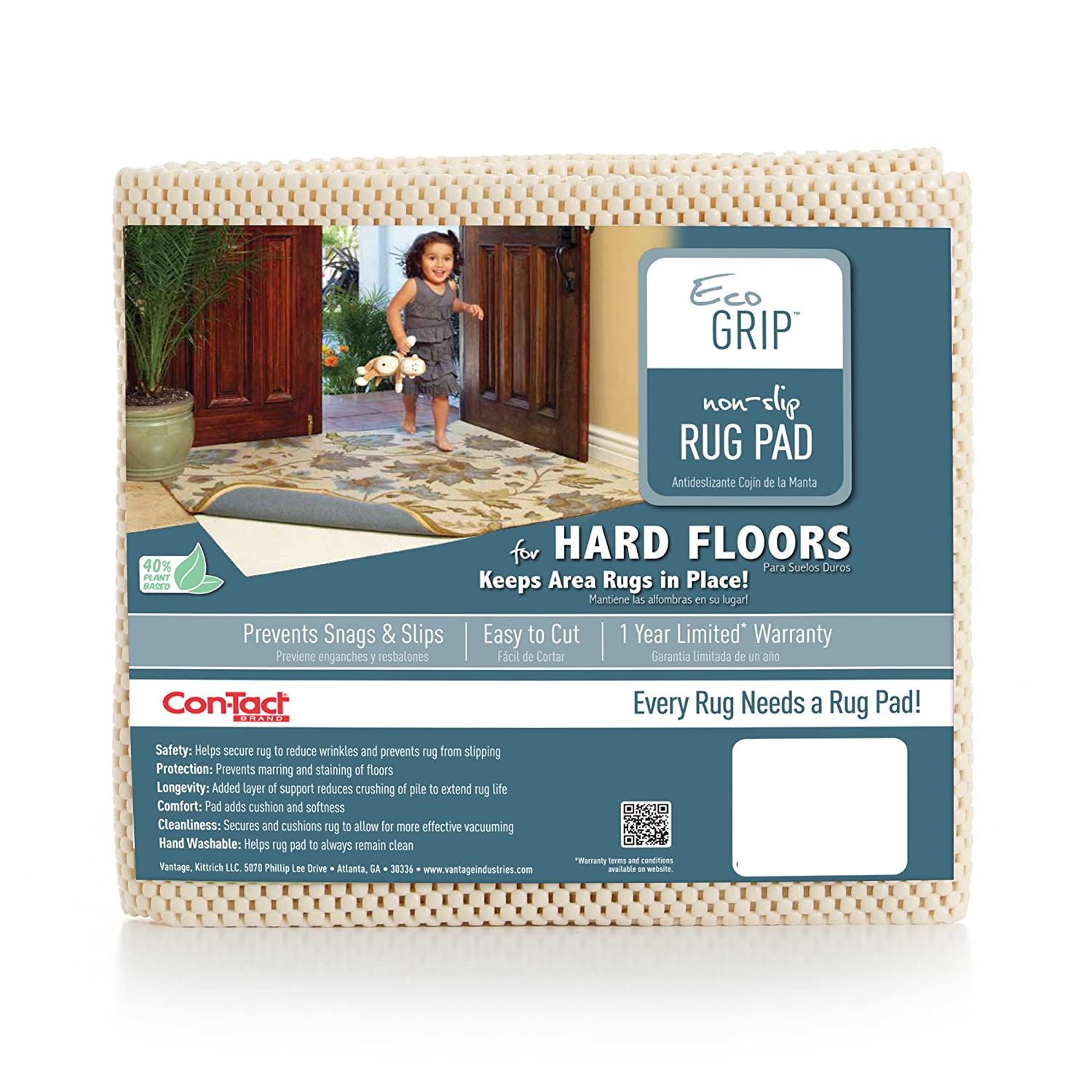 Amazon.com: Con-Tact Rug Pad 6x9, Non-Slip Area Rug Pad, Eco-Grip for Hard Floors: Kitchen & Dining