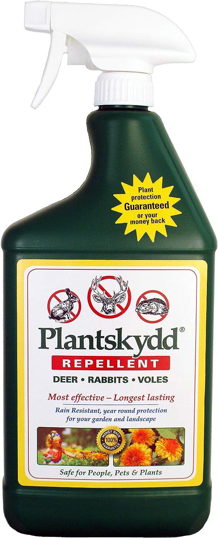 Plantskydd Animal Repellent - Repels Deer, Rabbits, Elk, Moose, Hares, Voles, Squirrels, Chipmunks and Other Herbivores; Ready to Use Liquid - 32 Oz Spray Bottle (PS-1L)