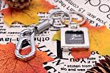 Photo Frame Keychain Photo Snap-in Key Chain, Metal Picture Frame Keyring with Carabiner Shape Keyholder for Men and Women