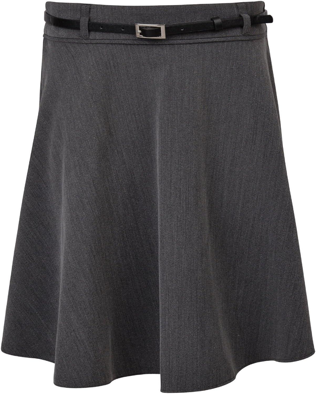 Ex UK Store Girls School Skirt with Belt Soft Touch Adjustable Waist 3-16 Years