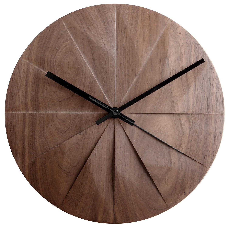 パナオブジェクト 置き時計掛け時計 ダークブラウン 約幅26×奥行26×高さ2.2cm 5641002BK B07CP1HT2Nダークブラウン
