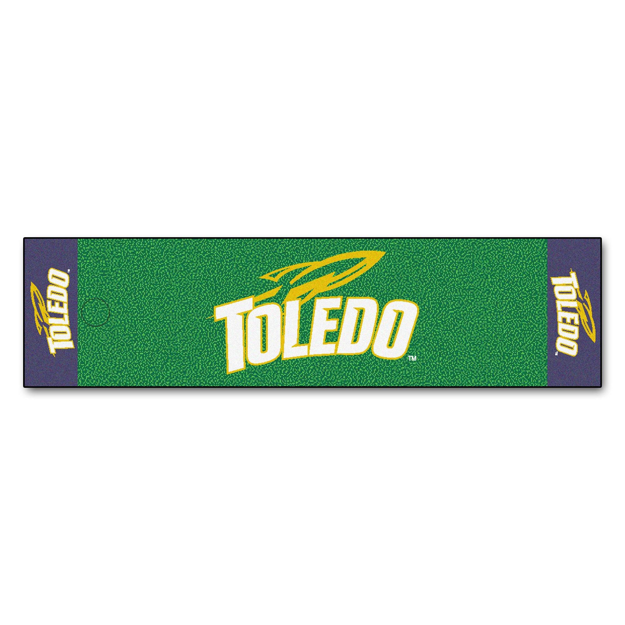 NCAA University of Toledo Rockets Putting Green Mat Golf Accessory
