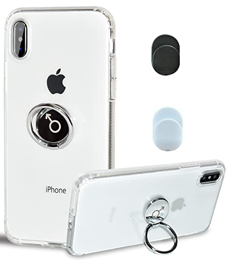super popular e500b 35f06 Chitri iPhone Xs Case,iPhone X Case, [Dust-Proof] with Ring Grip Stand 360  Rotating Ring Holder Kickstand [Magnetic Car Mount] Slim Clear Back Soft ...