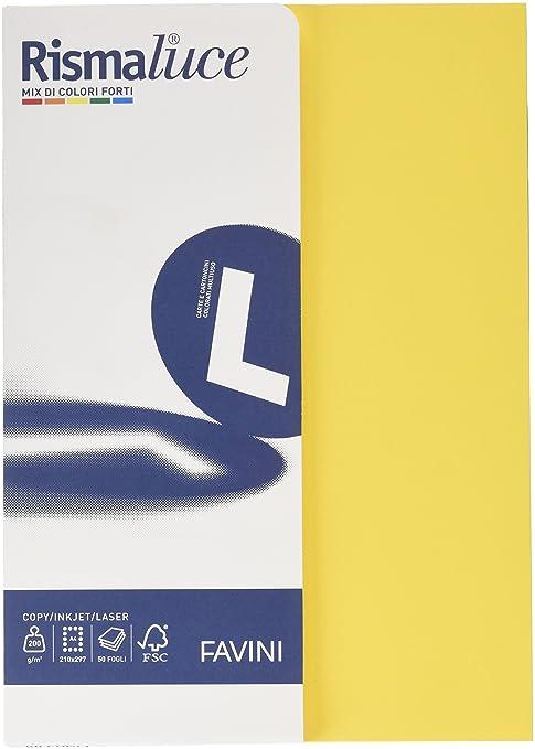 57 opinioni per Favini A69X504 Rismalucea4 Cartoncino Colorato, 200 g/Mq, Assortiti 5 Colori