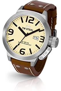 TW Steel Canteen 50 MM Ivory Dial Mens Watch TW21