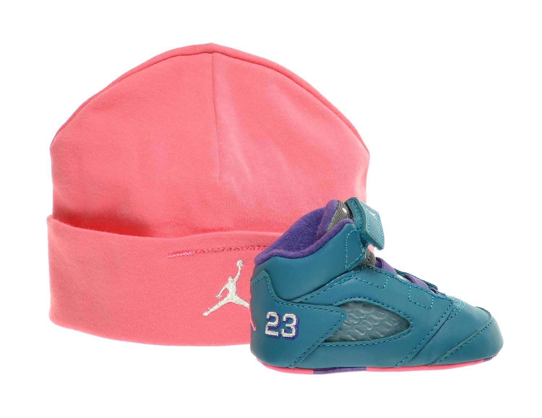 san francisco 5de42 cefe4 Amazon.com   Jordan 5 Retro (GP) Infants Basketball Shoes Tropical  Teal White-Digital Pink-Court Purple 552494-307 (3 M US)   Sneakers