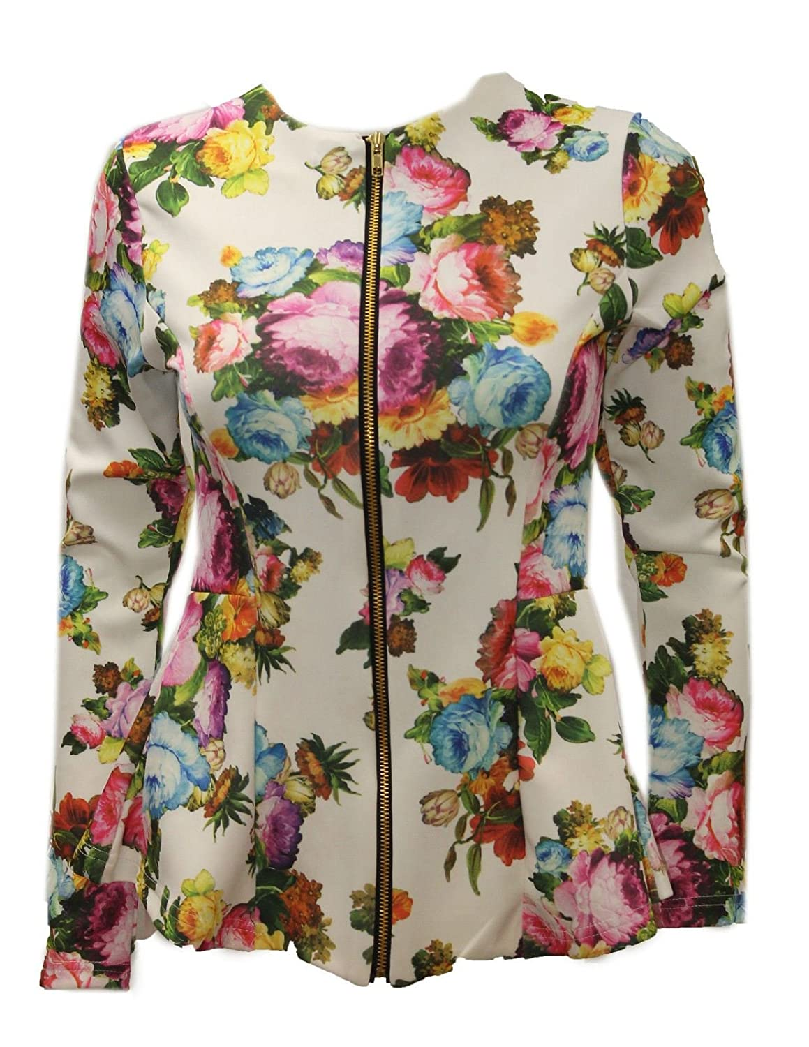 Chocolate Pickle New Ladies Floral Peplum Blazer jackets