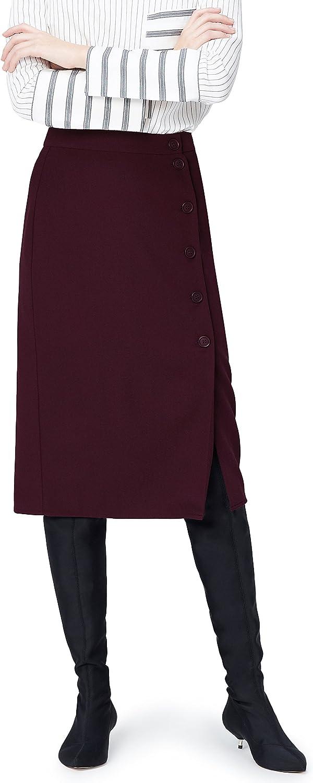 TALLA L. Marca Amazon - find. Falda de Botones para Mujer