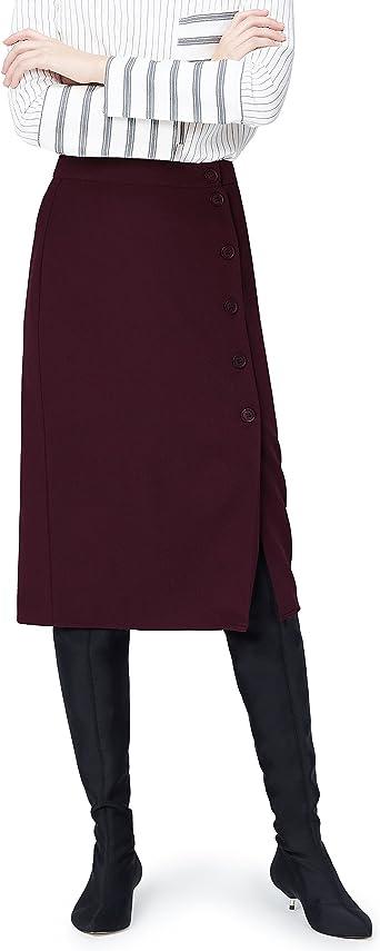 Marca Amazon - find. Falda de Botones para Mujer: Amazon.es: Ropa ...