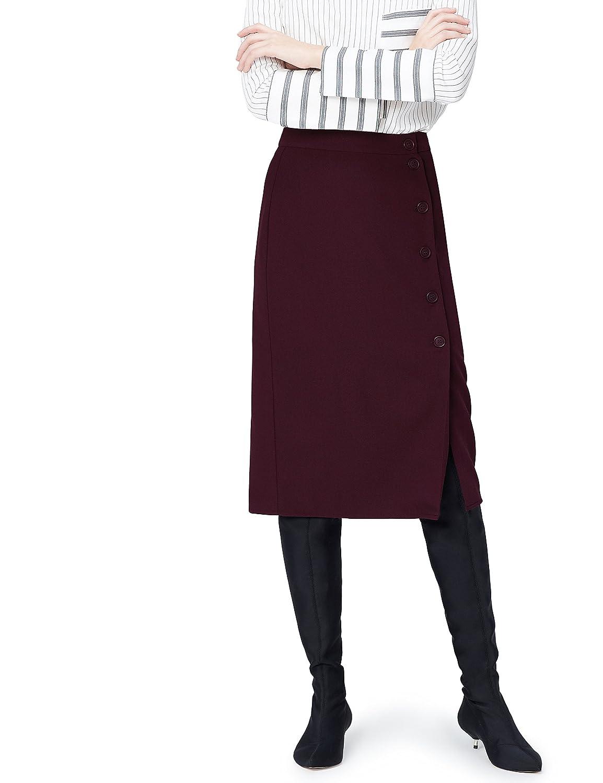 TALLA 42 (Talla del Fabricante: Large). FIND Falda de Botones para Mujer