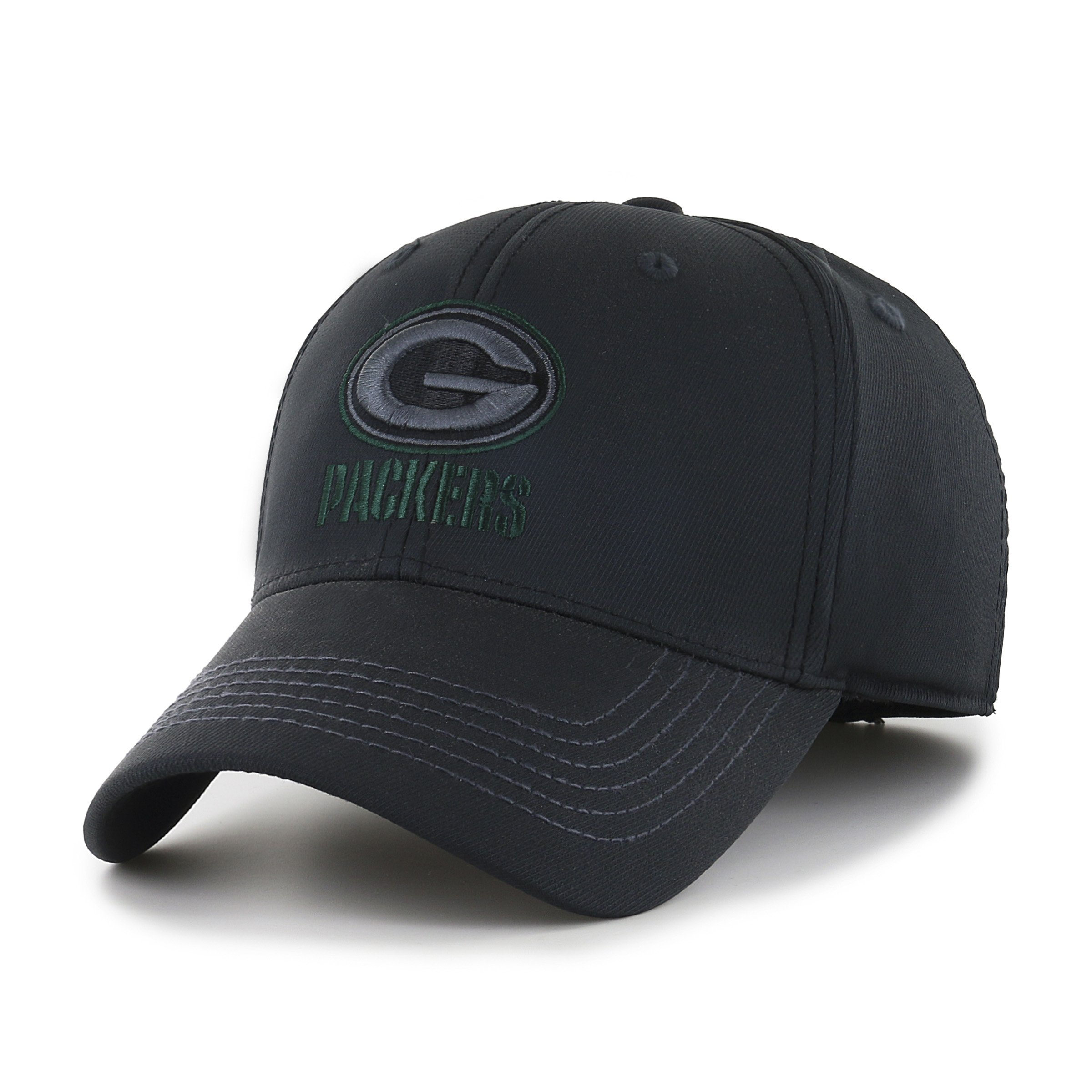 3c615e0c0723a ... france ots nfl green bay packers wilder center stretch fit hat black  large x 67355 a4087
