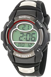 Armitron Sport Mens 408089RED Chronograph Round black and Red Digital Watch