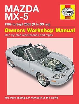 Haynes Manual de calidad de garaje de reparación de automóviles/libro para Mazda MX-