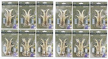 12 Pack Bundle   3u0026quot; Right U0026 Left Antler Drawer / Cabinet Pull   Deer
