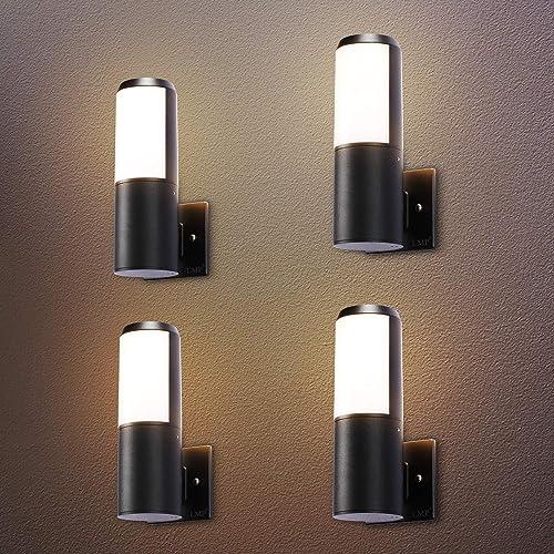 LMP 4 Packs Outdoor Wall Light LED Porch Light