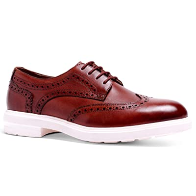 Anthony Veer Men's Harrison Hybrid Wingtip Leather Lightweight Comfort Lace-up Dress Shoe | Oxfords