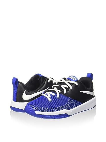 Nike Team Hustle D 7 Low (GS), Zapatillas para Niños, Azul (Black/White Game Royal), 38 EU