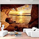 Fototapete Strand Vlies Wand Tapete Wohnzimmer Schlafzimmer Büro Flur Dekoration Wandbilder XXL Moderne Wanddeko - 100% MADE IN GERMANY - Sonnenuntergang Runa Tapeten 9071010a