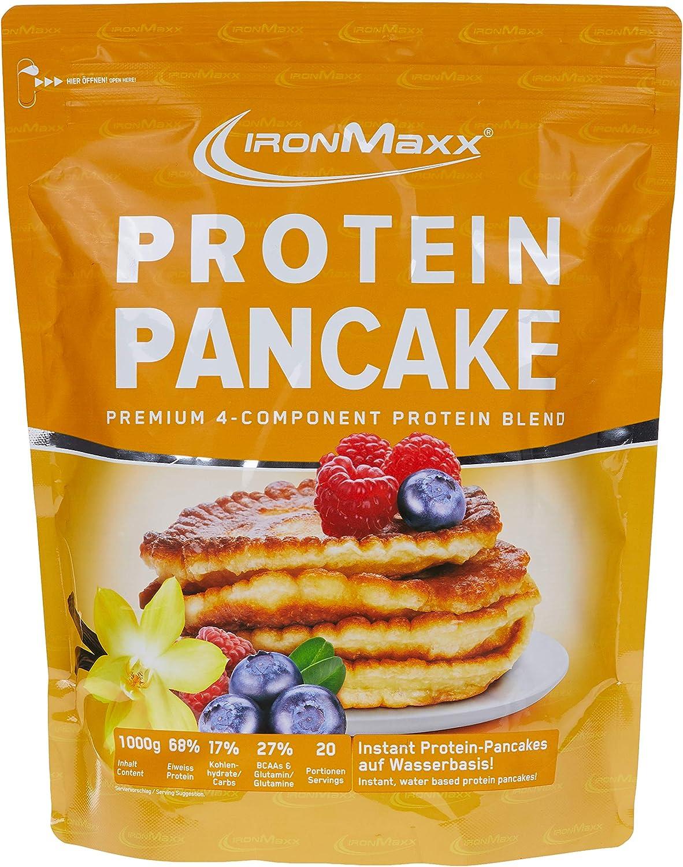 IronMaxx Protein Pancake, 1000 g Beutel (Vanille): Amazon.es ...