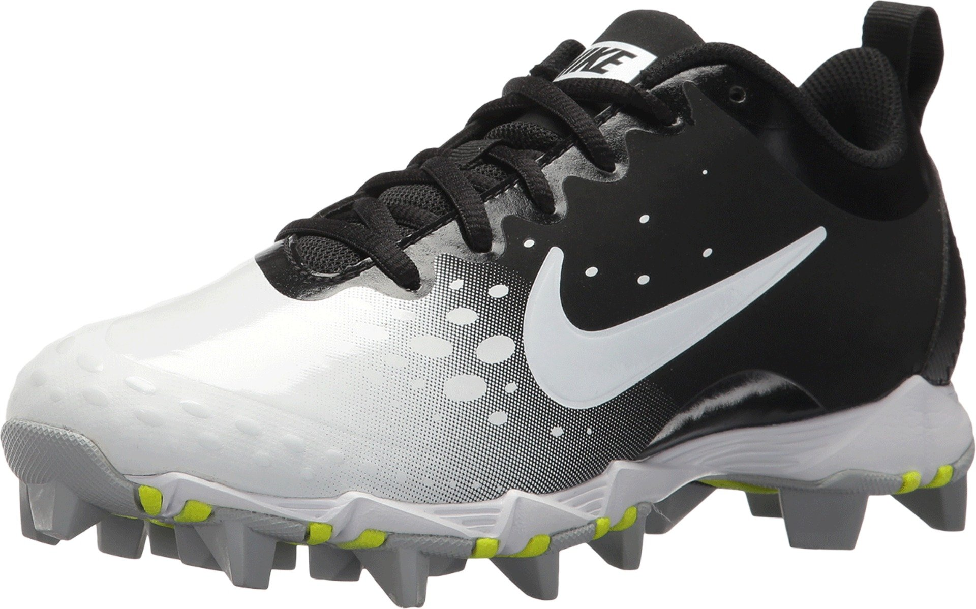 Nike Women's Hyperdiamond 2 Keystone Softball Cleat Black/White/Wolf Grey Size 7.5 M US by Nike