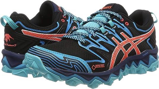 Asics Gel-Fujitrabuco 7 G-TX, Zapatillas de Running para Mujer, Negro (Black/Aquarium 002), 37.5 EU: Amazon.es: Zapatos y complementos