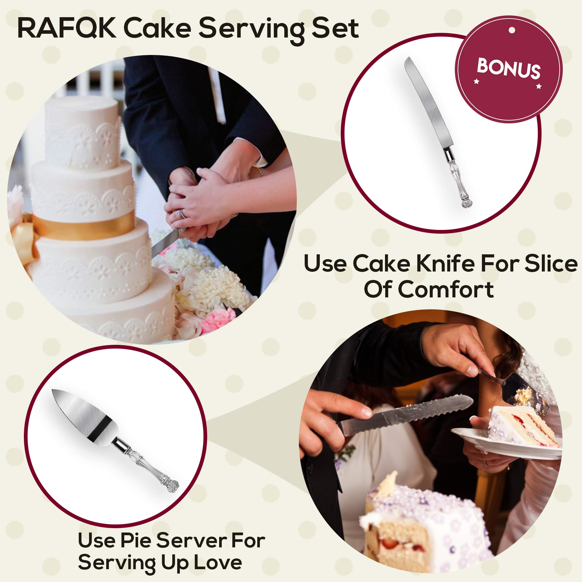100 Pcs Cake Decorating Kit with Aluminum Metal Turntable-Rotating Stand-Cake server & knife set-48 Numbered Icing tips-7 Russian Piping nozzles-Straight & Angled Spatula-Cake Leveler& Baking supplies by RFAQK (Image #3)