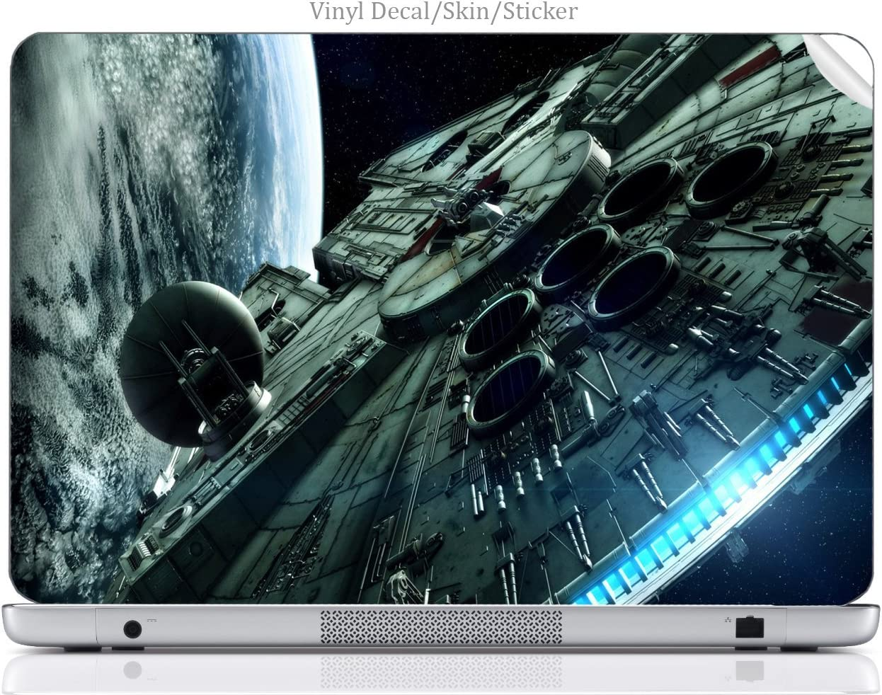 Laptop VINYL DECAL Sticker Skin Print Space Station fits 15.6
