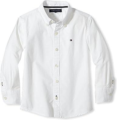 Tommy Hilfiger Solid Oxford Shirt L/S Camisa para Niños