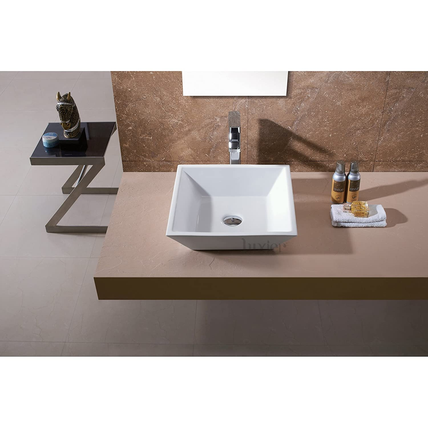 Bathroom available in 5 finishes vessel bathroom sinks msrp 425 - Luxier Cs 006 Bathroom Porcelain Ceramic Vessel Vanity Sink Art Basin Amazon Com
