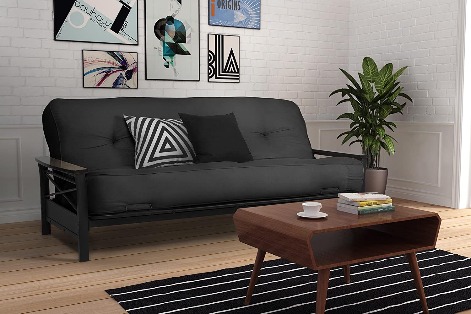 amazon    dhp 8 inch independently encased coil futon mattress with certipur us certified foam full size grey  kitchen  u0026 dining amazon    dhp 8 inch independently encased coil futon mattress      rh   amazon