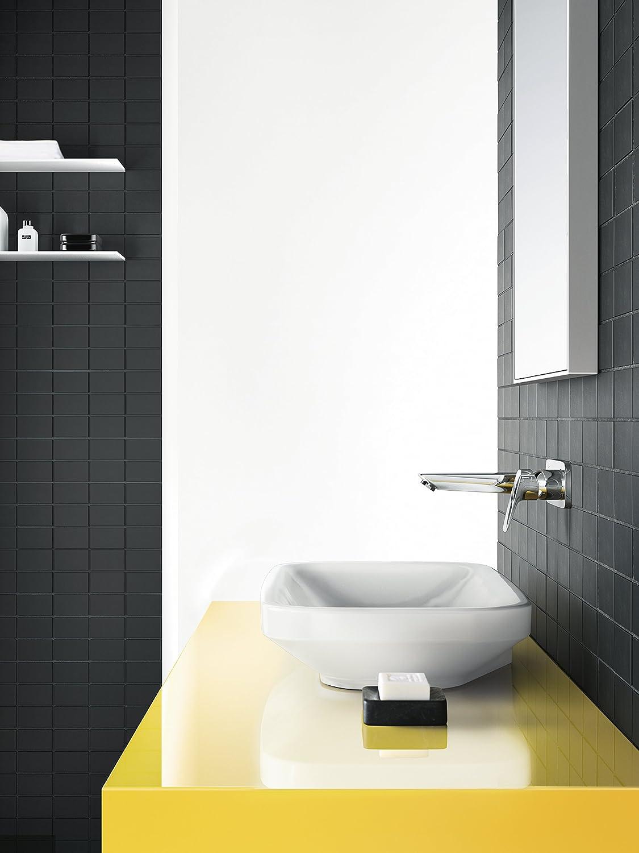 chrom Komfort-Auslauf 195mm Wandmontage hansgrohe Logis wassersparender Unterputz Einhebel-Waschtischmischer