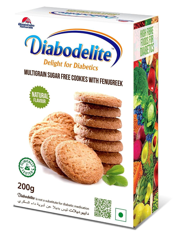 Diabodelite Natural Flavour Multi Grain Sugar Free Cookies 200g