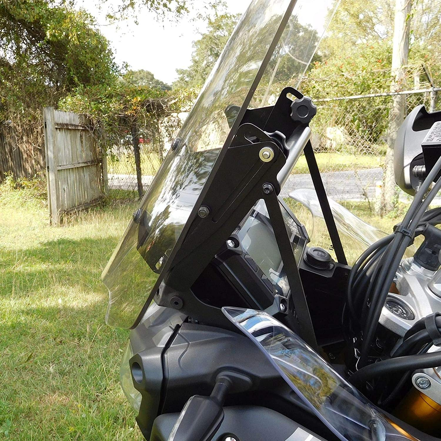 22, Clear 2014 - Up Yamaha Super Tenere XT1200Z Compatible Adjustable Motorcycle Windshield System by Madstad Engineering