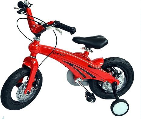 Bicicleta roja para niños de 12