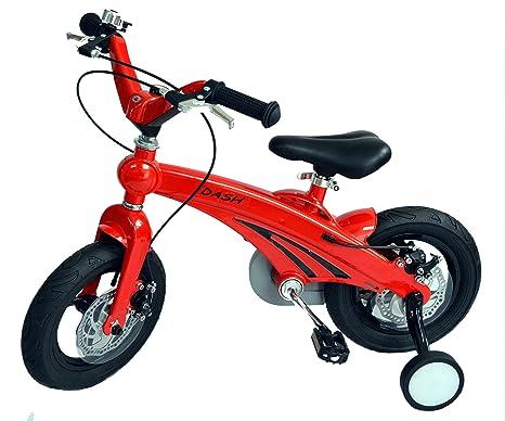Bicicletta Rossa Per Bambini 30 Cm Bici Per Bambini 3 5 Anni Con Ruote Laterali Rimovibili Di Dash