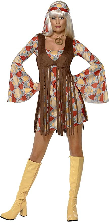 Hippie Dress | Long, Boho, Vintage, 70s Smiffys 1960s Groovy Baby £22.32 AT vintagedancer.com