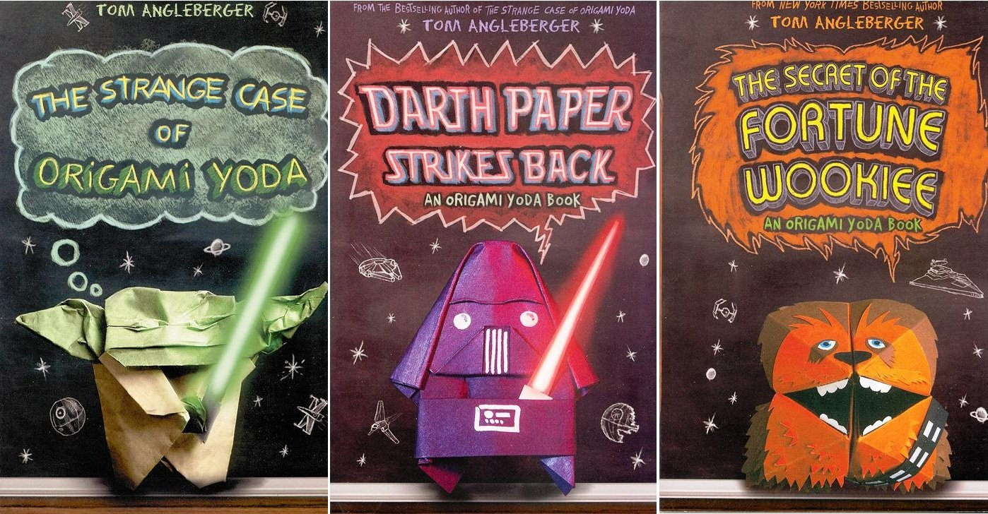 Origami yoda pack paperback book pack the strange case of case of origami yoda darth paper strikes back the secret of the fortune wookiee origami yoda tom angleberger 9780545604024 amazon books jeuxipadfo Images