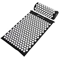 ProsourceFit Acupressure Mat and Pillow Set for Back/Neck Pain Relief and Muscle...