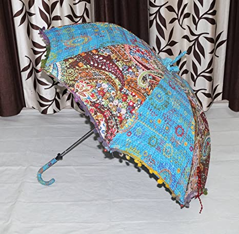 da4d756f556c Amazon.com : Tie Dye Umbrella Indian Handmade Cotton Sun Umbrella ...