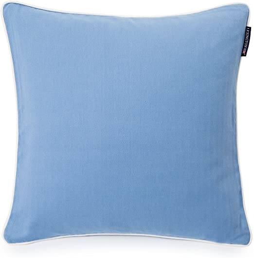 Lexington Funda De Cojín, Algodón, Azul Claro/Blanco, Individual, 50 x 50 x 0.2 cm: Amazon.es: Hogar