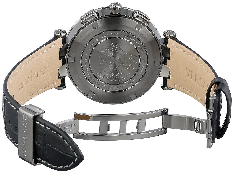 e6b2a3840 Amazon.com: Versace Men's 29G98D535 S009 V-Race GMT Alarm Analog Display  Quartz Black Watch: Watches