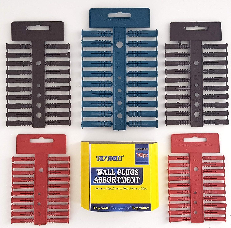NEW Wall Plug Brown 7mm DIY 100 Pack