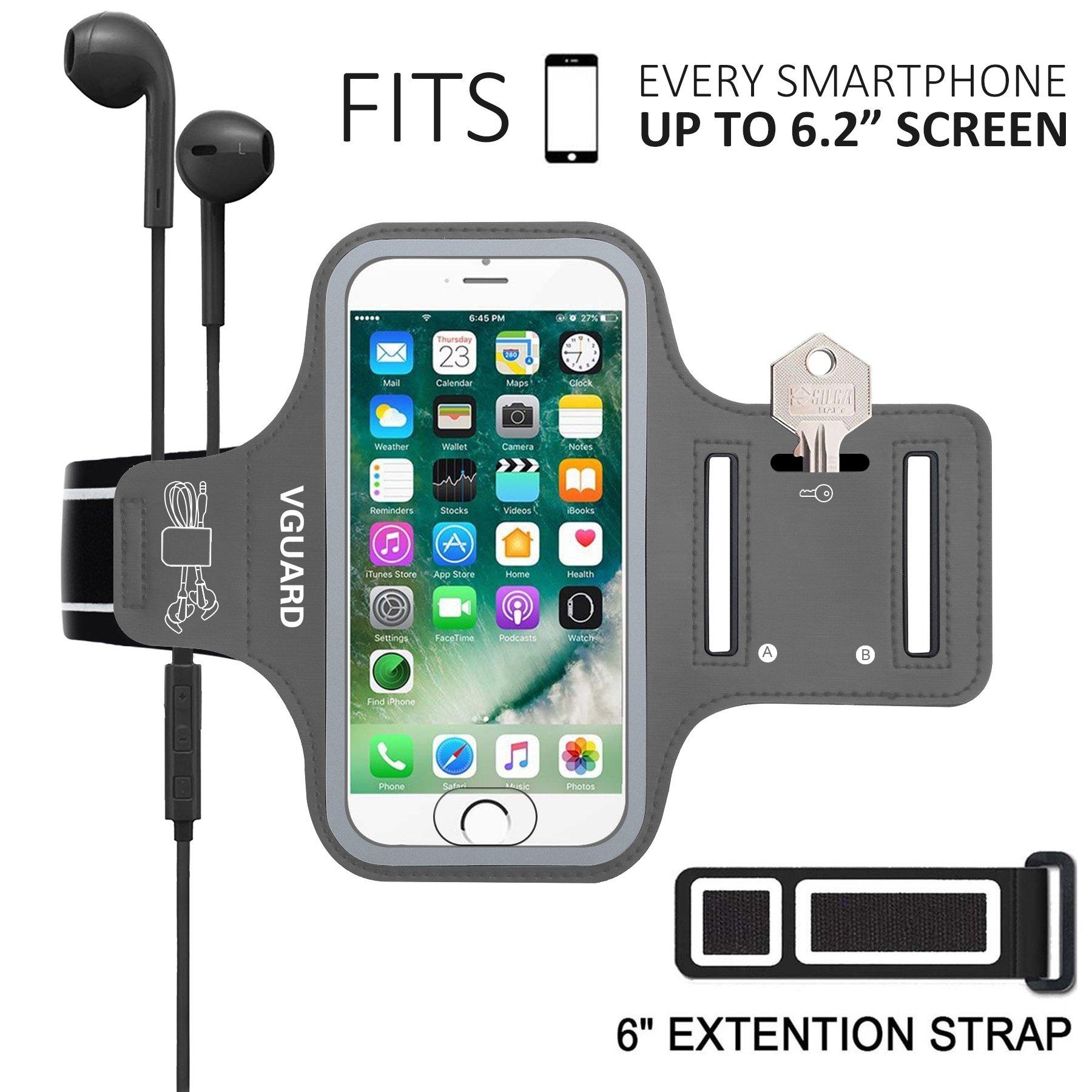 VGUARD Brazalete Deportivo para 6.2 Pulgados iPhone X/8 Plus/7 Plus [ID