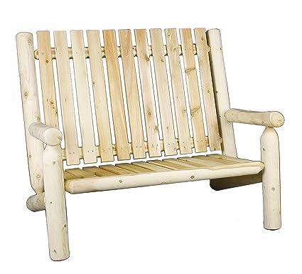 Admirable Cedarlooks 010006B Log High Back Bench Camellatalisay Diy Chair Ideas Camellatalisaycom