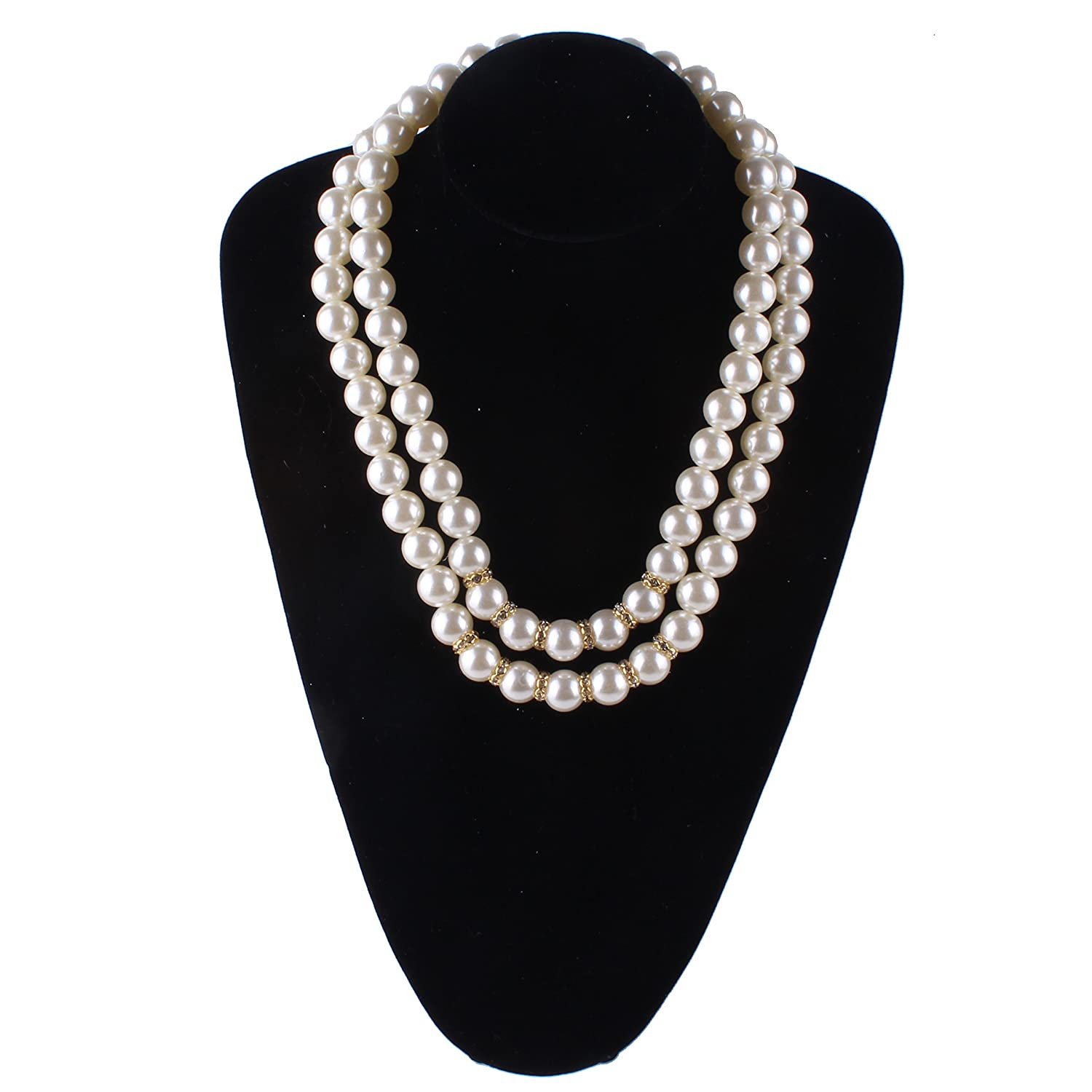 Aibei New Style Faux Pearl Necklaces alloy Pearl necklace 23+2 china ZZXL020