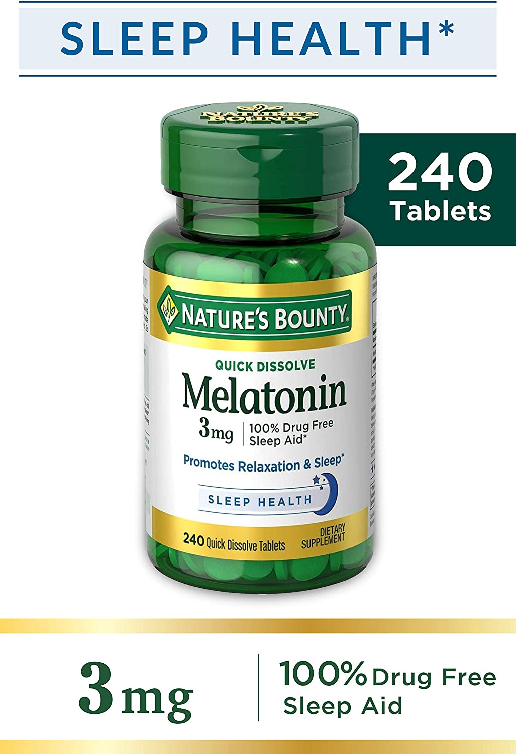Natures Bounty Melatonin 3 mg