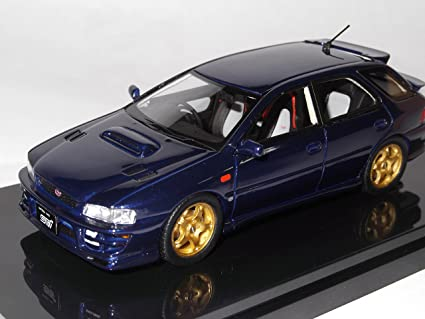 Amazon Com Wit S 1 43 Impreza Sports Wagon Wrx Sti Version Iv Royal